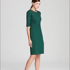 Trina Turk holiday green sheath dress size 6